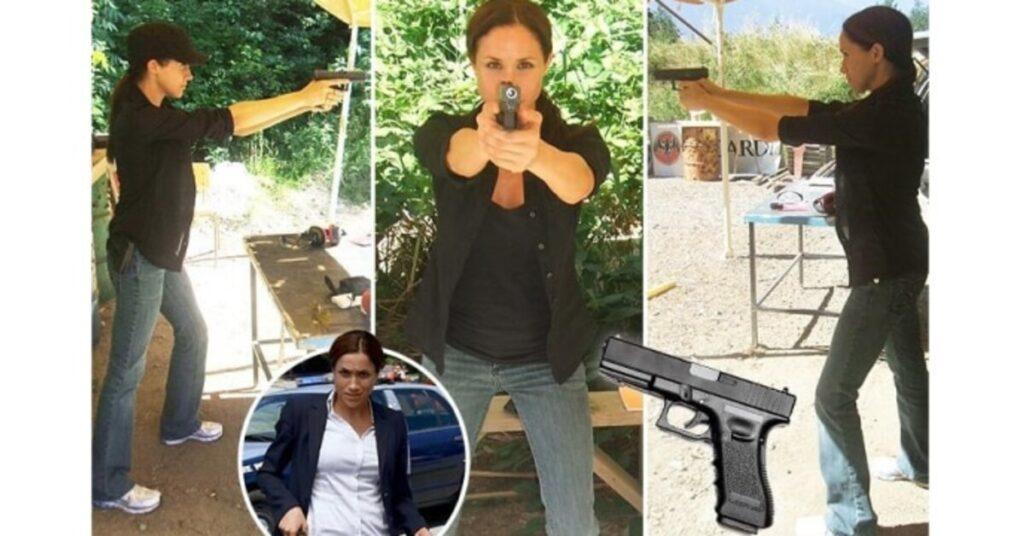 Меган Маркл училась стрелять из пистолета
