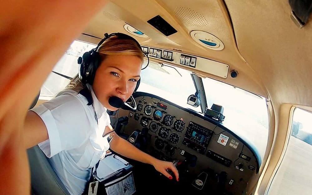 В США 4,4 % девушек-пилотов
